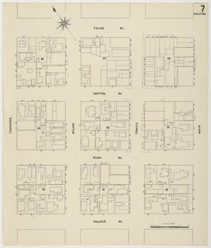 Primary view of object titled 'Houston 1907 Vol. 1 Sheet 7 (Skeleton Map)'.