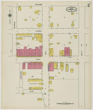 Primary view of object titled 'Lewisville 1912 Sheet 2'.