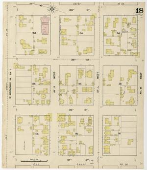 Primary view of object titled 'Galveston 1889 Sheet 18'.