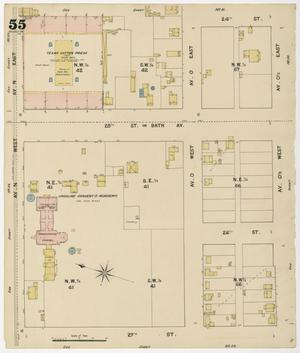 Primary view of object titled 'Galveston 1889 Sheet 55'.