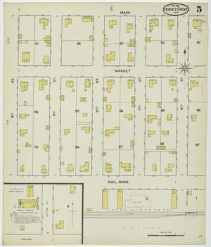 Primary view of object titled 'Honey Grove 1892 Sheet 5'.