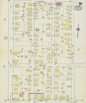 Primary view of object titled 'Paris 1914 Sheet 10'.