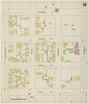 Primary view of object titled 'Houston 1896 Sheet 38'.