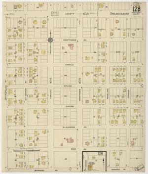 Primary view of object titled 'Houston 1917 Vol. 1 Sheet 128'.