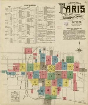 Primary view of object titled 'Paris 1908 Sheet 1'.