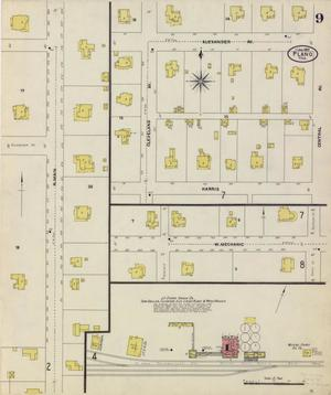 Primary view of object titled 'Plano 1907 Sheet 9'.