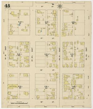 Primary view of object titled 'Galveston 1889 Sheet 45'.