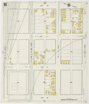 Primary view of object titled 'Galveston 1912 Sheet 91'.