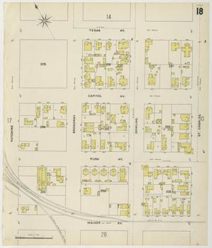 Primary view of object titled 'Houston 1896 Sheet 18'.