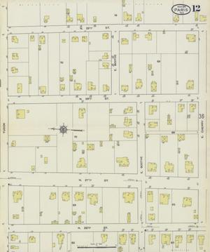 Primary view of object titled 'Paris 1914 Sheet 12'.