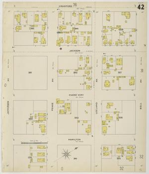 Primary view of object titled 'Houston 1896 Sheet 42'.