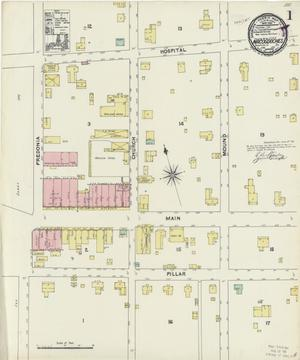 Primary view of object titled 'Nacogdoches 1891 Sheet 1'.