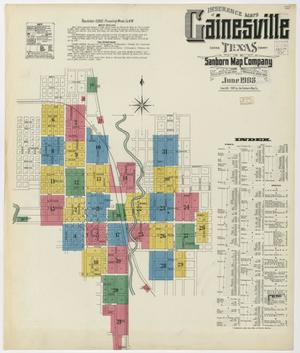 Primary view of object titled 'Gainesville 1908 Sheet 1'.