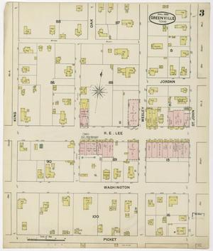 Primary view of object titled 'Greenville 1888 Sheet 3'.