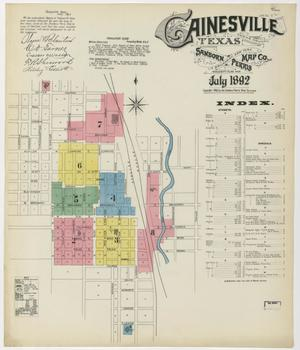 Primary view of object titled 'Gainesville 1892 Sheet 1'.