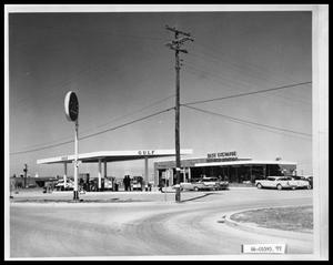 Primary view of object titled 'Gulf Service Station'.