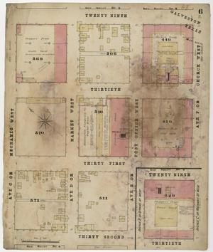Primary view of object titled 'Galveston 1877 Sheet 6'.