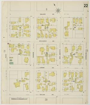 Primary view of object titled 'Houston 1896 Sheet 22'.