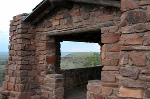 Primary view of object titled 'Davis Mountains State Park, overlook on Skyline Drive'.