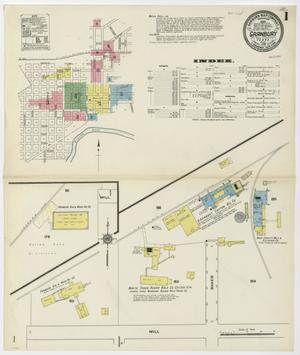 Primary view of object titled 'Granbury 1910 Sheet 1'.