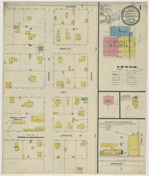 Primary view of object titled 'Lockhart 1898 Sheet 1'.