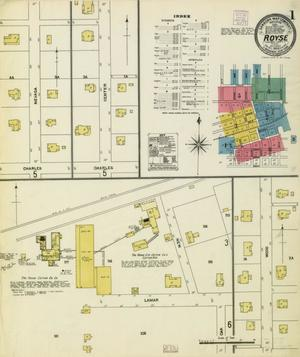 Primary view of object titled 'Royse City 1906 Sheet 1'.