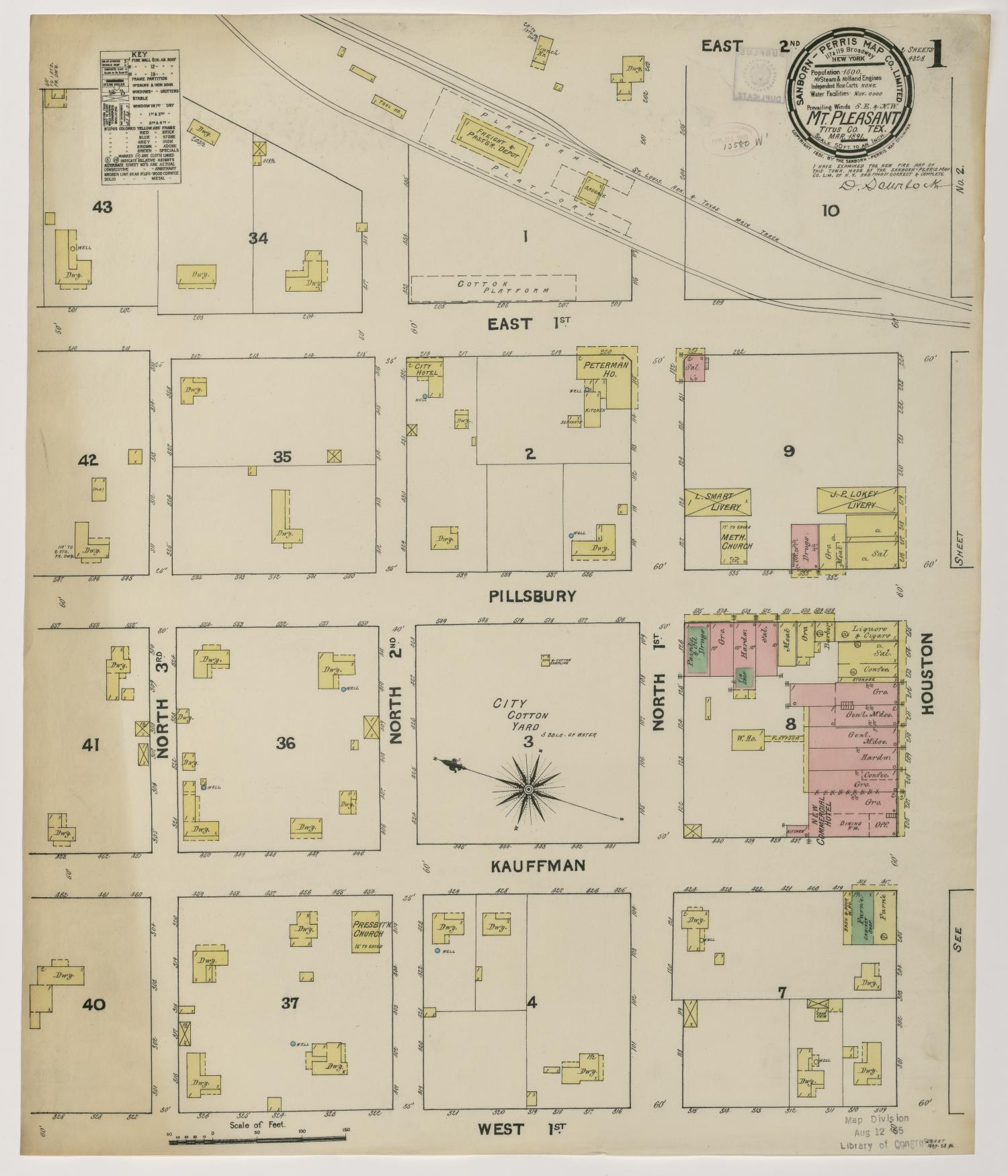 Mount Pleasant 1891 Sheet 1                                                                                                      [Sequence #]: 1 of 1