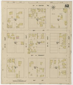 Primary view of object titled 'Galveston 1889 Sheet 52'.