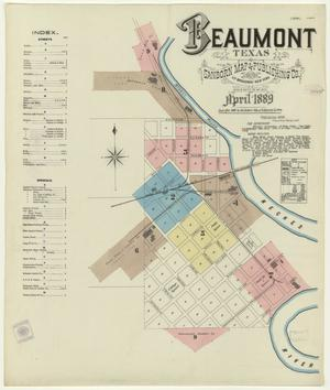 Primary view of object titled 'Beaumont 1889 Sheet 1'.