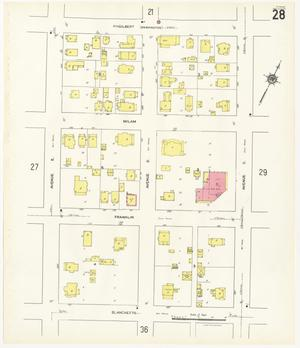 Primary view of object titled 'Beaumont 1941 Sheet 28'.