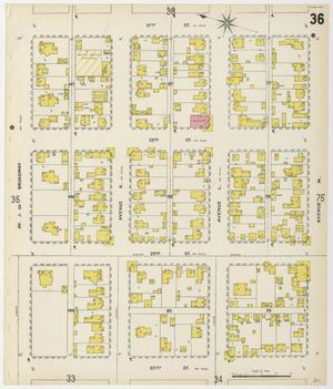 Primary view of object titled 'Galveston 1899 Sheet 36'.