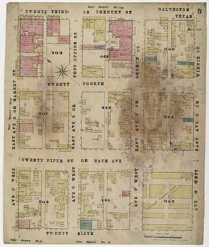 Primary view of object titled 'Galveston 1877 Sheet 9'.