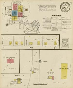 Primary view of object titled 'Olney 1921 Sheet 1'.