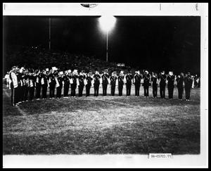 Primary view of object titled 'ACU Band in Stadium'.