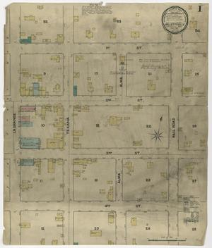 Primary view of object titled 'Hallettsville 1891 Sheet 1'.