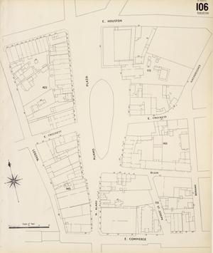 Primary view of object titled 'San Antonio 1904 Sheet 106 (Skeleton Map)'.