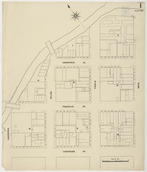 Primary view of object titled 'Houston 1907 Vol. 1 Sheet 1 (Skeleton Map)'.