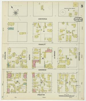 Primary view of object titled 'Houston 1890 Sheet 5'.