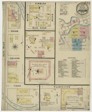 Primary view of object titled 'Houston 1877 Sheet 1'.