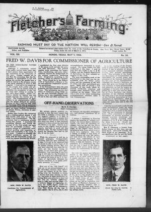 Primary view of object titled 'Fletcher's State Rights Farming. (Hondo, Tex.), Vol. 12, No. 10, Ed. 1 Tuesday, May 1, 1934'.