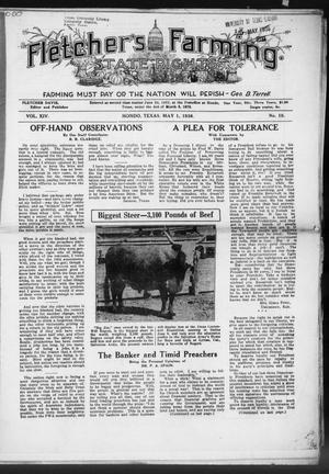 Primary view of object titled 'Fletcher's State Rights Farming. (Hondo, Tex.), Vol. 14, No. 10, Ed. 1 Friday, May 1, 1936'.