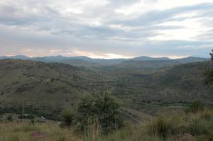 Primary view of object titled 'Davis Mountains State Park, taken from Skyline Drive at twilight'.