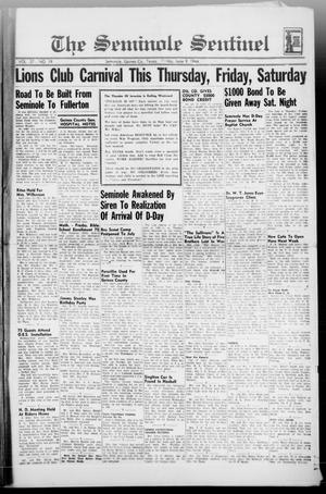 Primary view of object titled 'The Seminole Sentinel (Seminole, Tex.), Vol. 37, No. 19, Ed. 1 Friday, June 9, 1944'.
