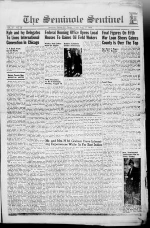 Primary view of object titled 'The Seminole Sentinel (Seminole, Tex.), Vol. 37, No. 28, Ed. 1 Friday, August 11, 1944'.