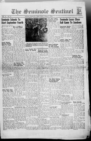 Primary view of object titled 'The Seminole Sentinel (Seminole, Tex.), Vol. 37, No. 27, Ed. 1 Friday, August 4, 1944'.
