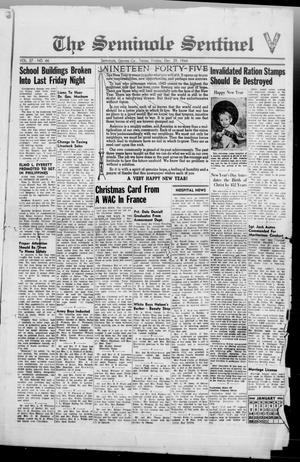 Primary view of object titled 'The Seminole Sentinel (Seminole, Tex.), Vol. 37, No. 46, Ed. 1 Friday, December 29, 1944'.