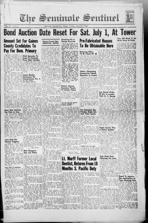 Primary view of object titled 'The Seminole Sentinel (Seminole, Tex.), Vol. 37, No. 21, Ed. 1 Friday, June 23, 1944'.