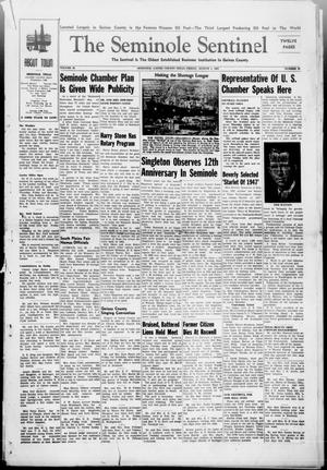 Primary view of object titled 'The Seminole Sentinel (Seminole, Tex.), Vol. 40, No. 23, Ed. 1 Friday, August 1, 1947'.