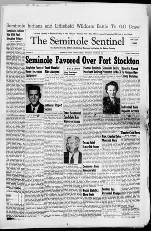 Primary view of object titled 'The Seminole Sentinel (Seminole, Tex.), Vol. 41, No. 35, Ed. 1 Thursday, October 7, 1948'.