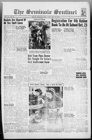 Primary view of object titled 'The Seminole Sentinel (Seminole, Tex.), Vol. 36, No. 37, Ed. 1 Friday, October 15, 1943'.